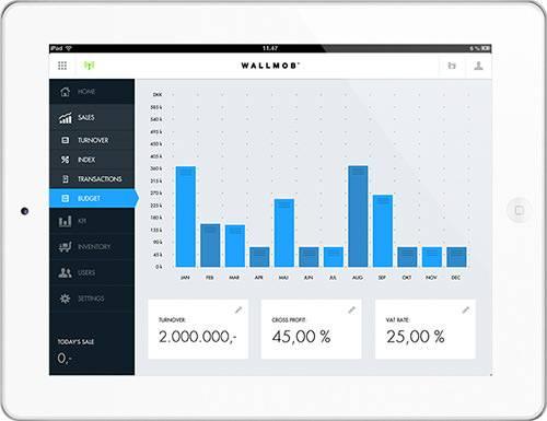 Wallmob销售信息监测界面:可从任何设备的浏览器跟踪记录。
