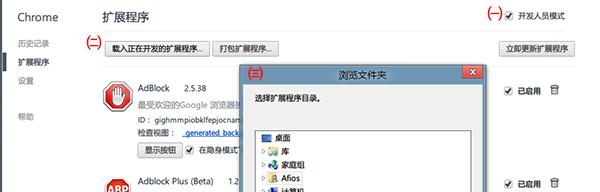 在 Chrome 中安装以开发者模式安装 crx文件