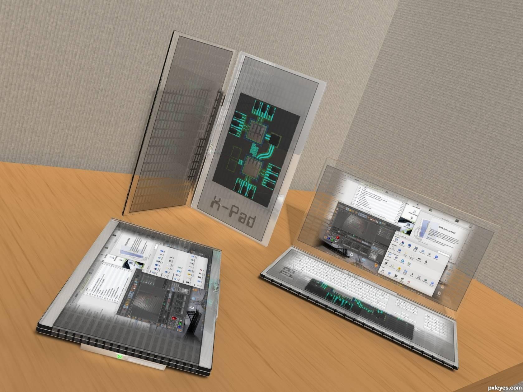 来自:http://www.pxleyes.com/3D-picture/4ed2151db3caf/X-pad.html