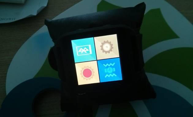 显示快捷设置界面的Z Watch