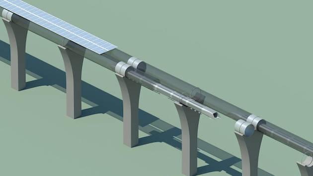 带有太阳能面板的管道
