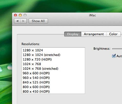 5-Some HiDPI resolution options for a 27 iMac