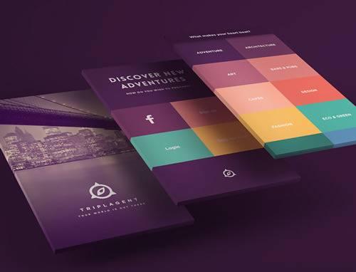 TriplAgent的视觉设计使用了令人惊喜的配色方案。