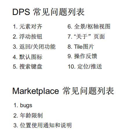 微软 Marketplace 审核常见的问题列表和 DPS 常见问题列表